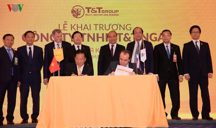Premierminister Nguyen Xuan Phuc nimmt an Veröffentlichung der Aktivitäten des Konzerns T&T in Russland teil - ảnh 1
