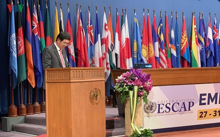 Vietnam nimmt an Sitzung von ESCAP teil - ảnh 1