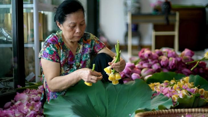 Aroma von Lotusblüten im Tee - ảnh 15