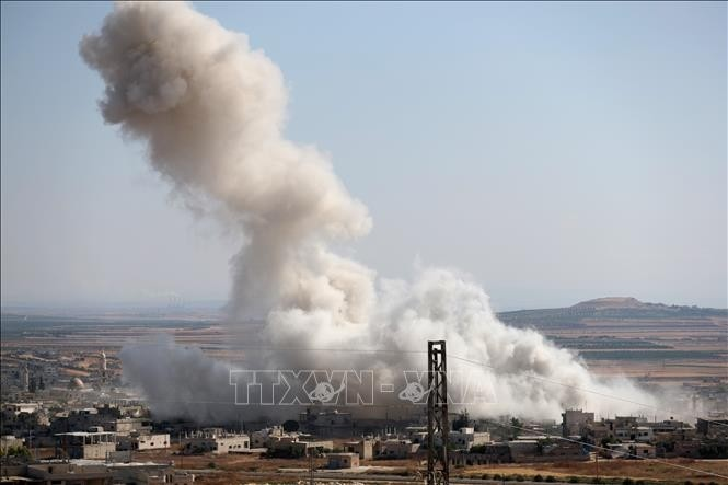 Russland weist Vorwurf des Luftschlags auf syrischen Markt zurück - ảnh 1