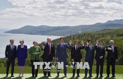 ກອງປະຊຸມສຸດຍອດ G7  ເປີດກວ້າງ ອອກຖະແຫຼງການຮ່ວມ ໂດຍເຕື້ອງເຖິງຫຼາຍບັນຫາ - ảnh 1