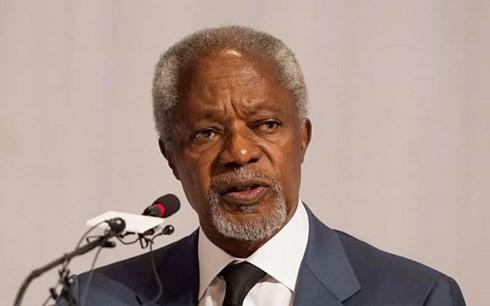 ສາກົນສະແດງຄວາມໂສກເສົ້າເສຍດາຍຕໍ່ອະດີດເລຂາທິການໃຫຍ່ ສປຊ Kofi Annan ເຖິງແກ່ມໍລະນະກຳ - ảnh 1