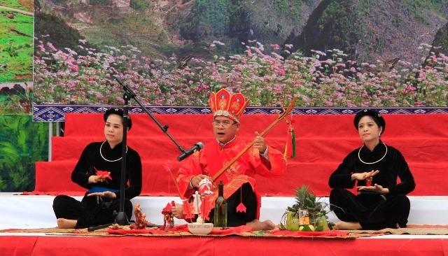 전국 Then 노래, Tinh 악기 예술축제 개막 및 Ha Giang성, Dong Van 돌 고원 국가관광지 계획공포 - ảnh 1