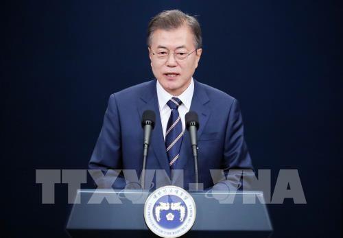 한국대통령, 미국 – 조선 인민민주주의공화국 정상회담의 성공에 관한 희망 - ảnh 1