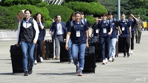 한국 대표단, 조선 인민민주주의공화국 농구교류 - ảnh 1