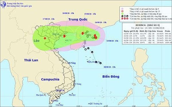 각지방, 버빙카 태풍 적극적인 대응 - ảnh 1