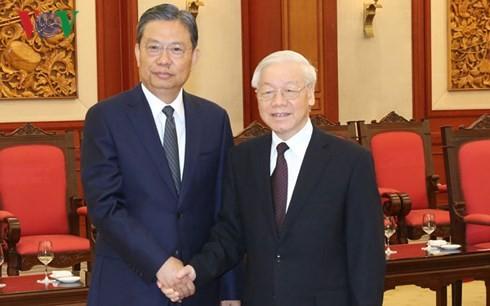 Nguyen Phu Trong서기장, 중국공산당 대표단 회견 - ảnh 1