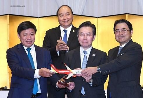 비엣젯공항,  베트남- 일본  3개의 직항노선 개항 - ảnh 1