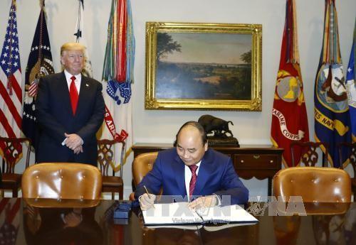 La comunidad internacional evalúa de positiva la visita a Estados Unidos del premier vietnamita - ảnh 1