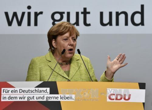 Merkel ofrece un debate televisivo intenso en vísperas de las elecciones generales - ảnh 1