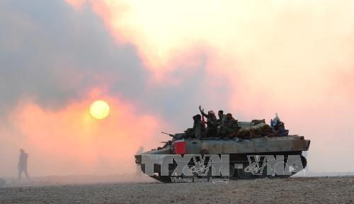 El Ejército sirio expulsa de nuevo al Estado Islámico de la ciudad de Al-Bukamal - ảnh 1