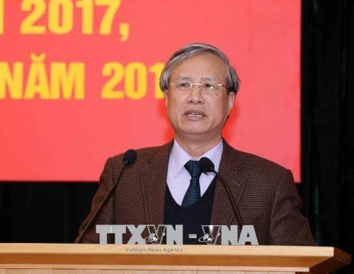 Oficina del Comité Central del PCV establece las nuevas misiones para 2018 - ảnh 1