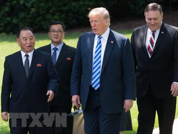 """Donald Trump califica su reunión con Kim Jong-un de """"comienzo de algo grande"""" - ảnh 1"""