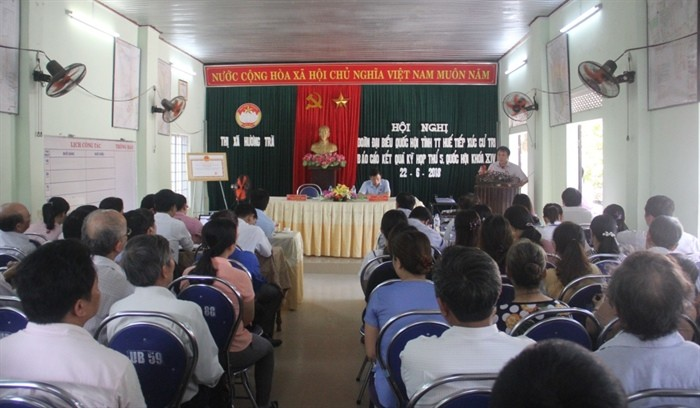 Efectúan encuentros con el electorado de Thua Thien-Hue - ảnh 1
