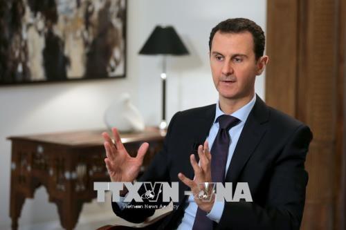 Presidente sirio rechaza participación occidental en reconstrucción de su país - ảnh 1