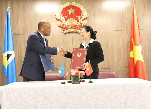 Vietnam establece relaciones diplomáticas con Santa Lucía - ảnh 1