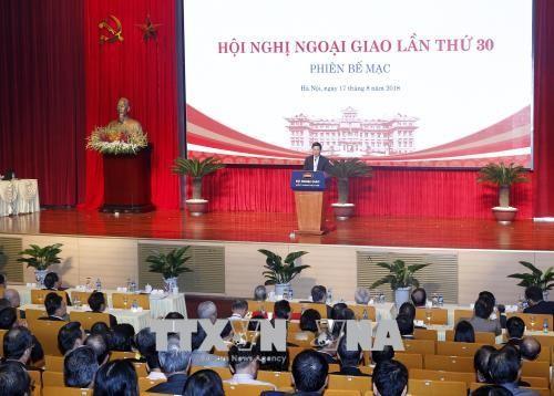 Concluye la trigésima Conferencia Nacional sobre Diplomacia de Vietnam - ảnh 1