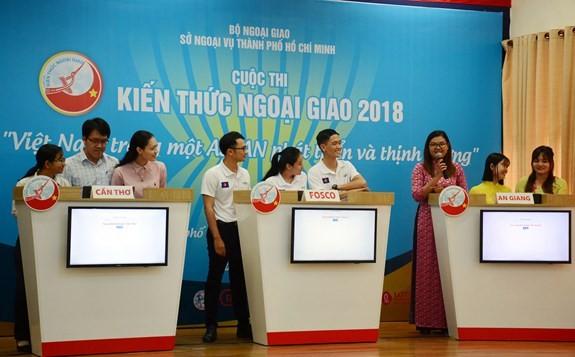 Celebran concurso sobre la Asean para diplomáticos sureños vietnamitas - ảnh 1