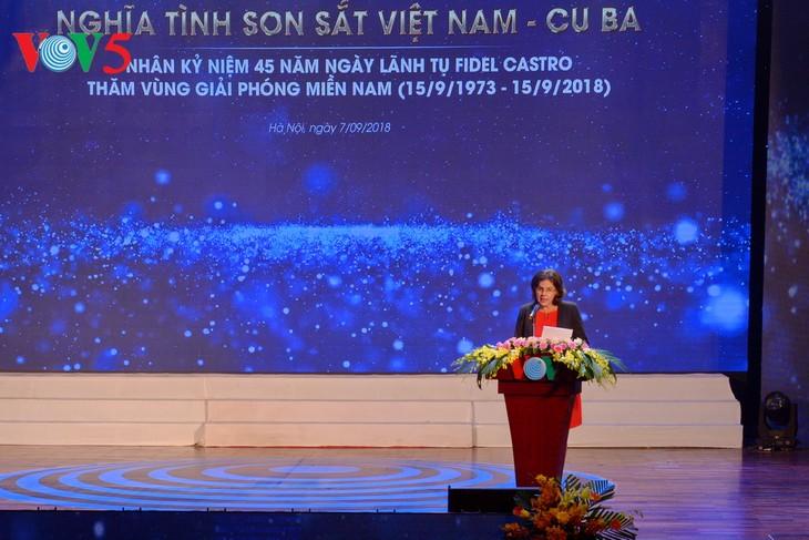 Canciones cargadas de amor hacia Fidel, un amigo entrañable de Vietnam - ảnh 1