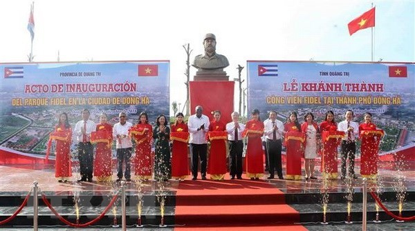 Inauguran Parque Fidel en la provincia central vietnamita de Quang Tri - ảnh 1