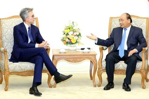 Premier de Vietnam afirma el apoyo a las actividades del grupo alemán SAP - ảnh 1