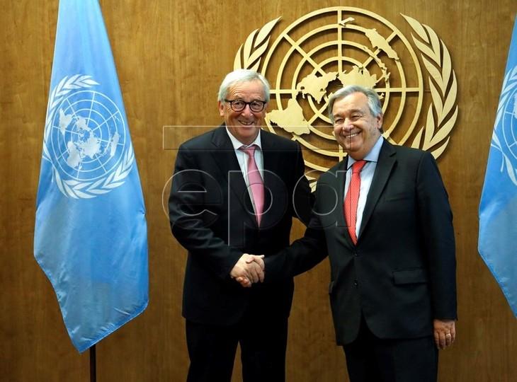 La ONU y las Uniones Europea y Africana comprometidos a promover un mecanismo multilateral - ảnh 1