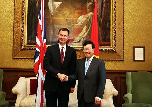 Concluye visita al Reino Unido el vicepremier y canciller vietnamita - ảnh 1