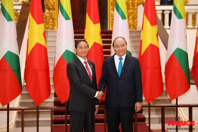 Premier vietnamita se reúne con presidente birmano - ảnh 1