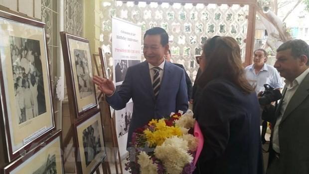 Conmemoran el natalicio del presidente Ho Chi Minh en Egipto - ảnh 1