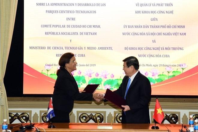 Ciudad Ho Chi Minh y Cuba refuerzan la cooperación en ciencia y tecnología - ảnh 1