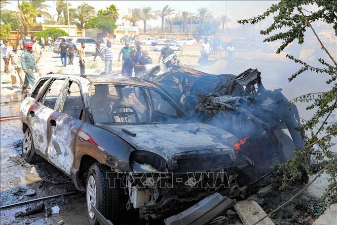 Tres miembros de la ONU mueren por un coche bomba en Libia - ảnh 1