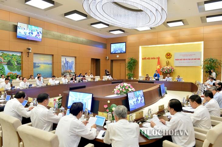 Interpelan a ministros en el Comité Permanente del Parlamento de Vietnam - ảnh 1