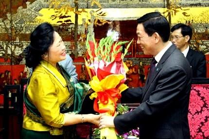 Hanoi y Vientiane fomentan colaboración - ảnh 1