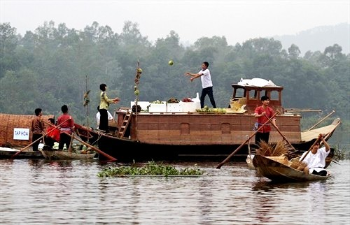 Mercado flotante de Cochinchina en el seno de la capital - ảnh 1