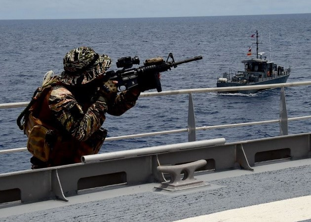 Asian countries, US launch maritime security exercise - ảnh 1