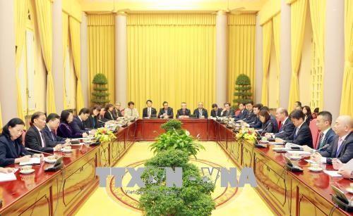 Dang Thi Ngoc Thinh부주석 일본 공상회의소 (JCCI)대표단 접견 - ảnh 1