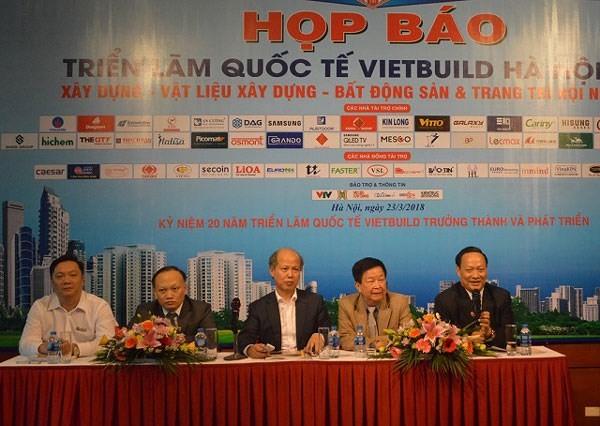 500여개 기업 2018년 하노이 VIETBUILD국제 전람회 참가 - ảnh 1