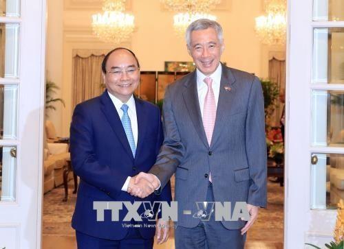 베트남 – 싱가포르 공동 성명 - ảnh 1
