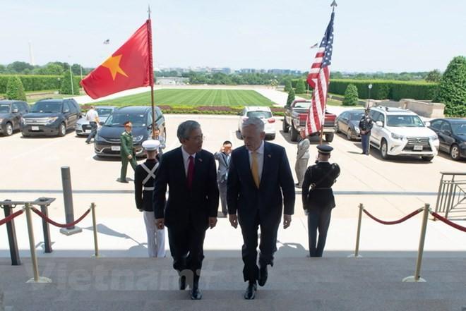 베트남과 미국 안전, 국방 협력에 대한 중요한 진전 달성 - ảnh 1