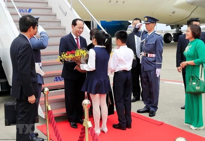 Tran Dai Quang 주석 및 부인 일본 국빈 방문 - ảnh 1