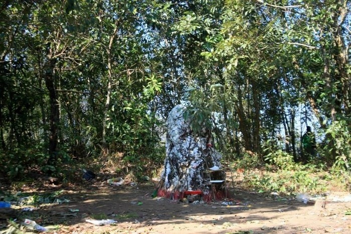 '흰 돌' 할아버지 - 변방 Ha Nhi 사람들의  성스러운 돌 - ảnh 1