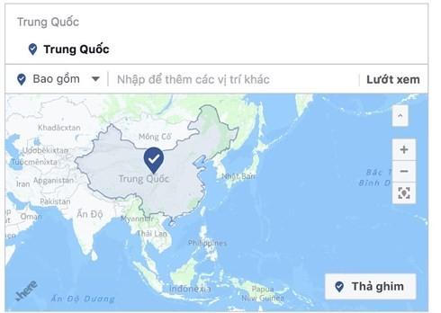 Facebook중국 지도상 Hoang Sa, Truong Sa 군도 제거 - ảnh 1