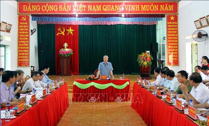 Tran Quoc Vuong 서기상무위원: Thai Nguyen, 공산당 및 정치 시스템 구축을 잘 해야  - ảnh 1