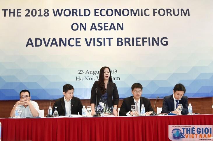 베트남, 2018년 WEF ASEAN회의 준비 대표단 하노이 방문 환영 - ảnh 1