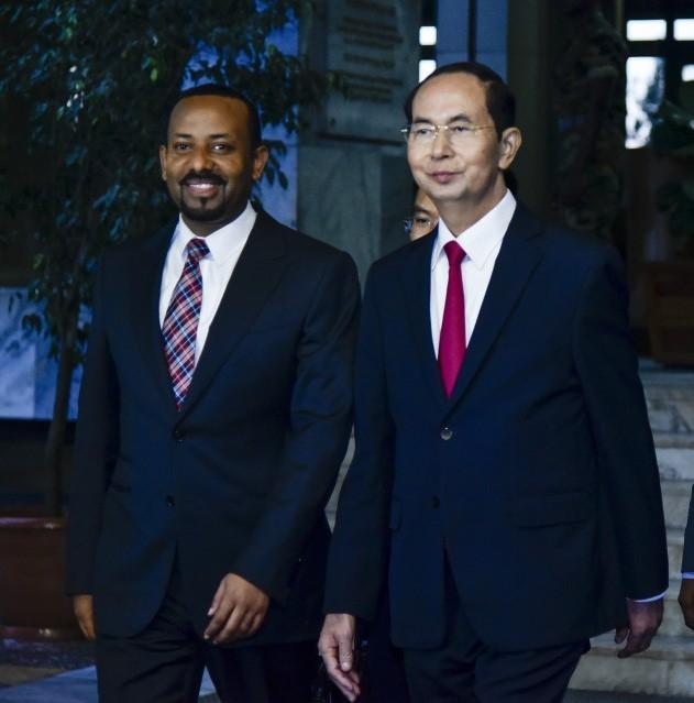 Tran Dai Quang국가주석, 에티오피아 총리와 회견 - ảnh 1