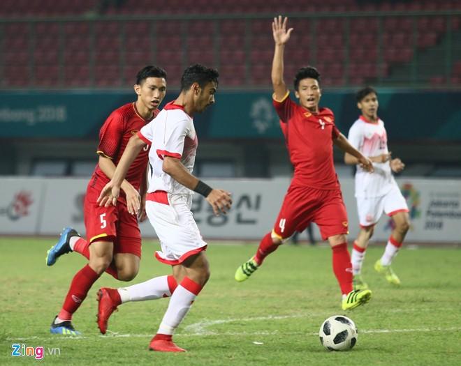 2018년ASIAD : 베트남 올림픽팀 Bahrain에 승리, 처음으로 준준결승전 진출 - ảnh 1