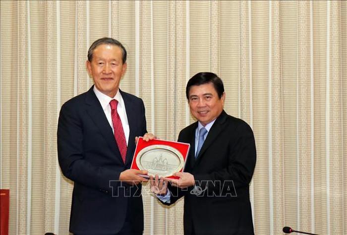 호치민시 지도자, 한국 전경련 회장 접견 - ảnh 1