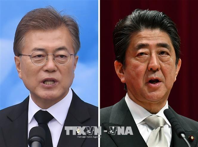 일본과 한국 지도자, 한반도 현황에 대해 회담 - ảnh 1