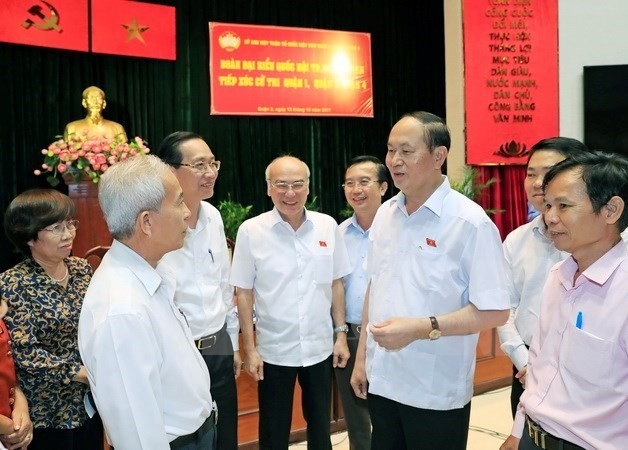 전국민, 국민 대표자의 Tran Dai Quang국가주석에 대한 애도 - ảnh 1