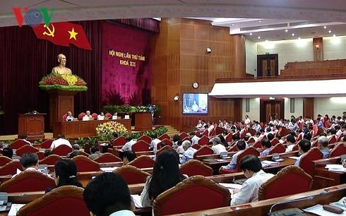 12기 8차 중앙회의 경제사회 상황에 대해 토론 - ảnh 1